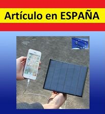 PLACA SOLAR cargador bateria SOLAR emergencia usb hembra iphone movil powerbank
