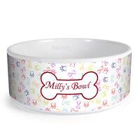 Personalised Paw/Bone Pattern Custom Design Dog Bowl Cat Pet Food Dinner Dish