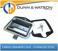 Cargo Drawer Lock / Handle (Trailer Caravan, Toolbox, Drawer System) Drop T