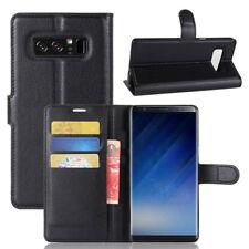 Custodia FLIP BOOK eco pelle NERA per Samsung Galaxy Note8 Note 8 N950F stand