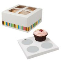 CUPCAKE BOXES  ~ 4 HOLE CAKE BOX HOLDER ~ MUFFIN POD CASE ~ SELECT YOUR AMOUNT