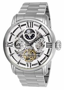 Invicta Men's 27575 Objet D Art Automatic 2 Hand Silver Dial Watch