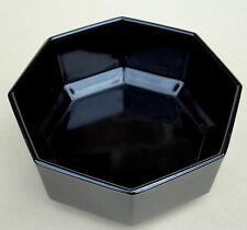 Arcoroc Fruit Dessert Bowl (s) Octime Black Glass Octagon 4 3/4in France