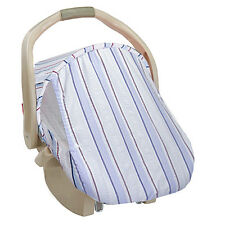 Infant Car Seat Carrier Cover or Sun & Bug Cover for Baby Blue Stripes