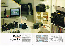 PUBLICITE ADVERTISING  1985   AKAI   hi-fi magnétoscope téléviseur (2 pages)