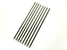 """QTY 12 12"""" UNIVERSAL STAINLESS STEEL LONG ZIP TIE CABLE FOR EXHAUST HEADER WRAP"""