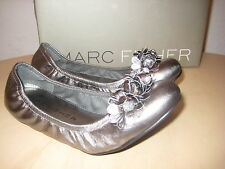 Marc Fisher Shoes New Womens Zippy Pewter Leather Ballet Flats 5.5 M