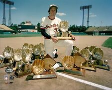 BROOKS ROBINSON AND HIS 16 GOLD GLOVES ORIOLES 8 x10 ! !