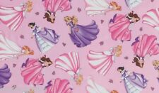 Timeless Treasures ~ PRINCESSES PINK w/ Glitter ~ 100% Cotton Quilt Fabric BTY