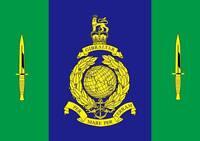 Royal Marines Commando Flag War British Navy Elite Armed Forces Dagger 5x3 bn