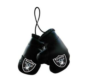 Las Vegas Raiders NFL Mini Boxing Gloves Rearview Mirror Auto Car Truck