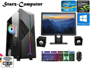 Gaming PC Computer Bundle Intel Quad Core i7 8GB 120SSD + 1TB Win 10 2GB GTX1050