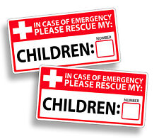First Aid Rescue Emergency Child Children Fire Safety Sticker 911 Window Decal