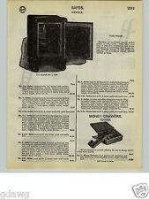 1932 PAPER AD Wehrle Floor Fire Proof Safe Safes
