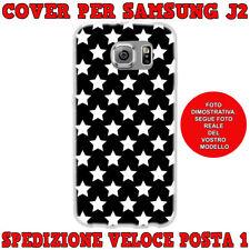 CUSTODIA COVER MORBIDA IN TPU PER SAMSUNG GALAXY J2 (J200) 2015 STELLE BIANCHE