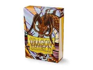 Japanese Classic Orange Case Display Dragon Shield Sleeves - 10x 60 ct Packs