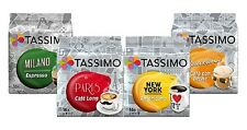 NEW! Tassimo Cities Variety Sample 8 Pack - Milano Paris New York Cafe Con Leche