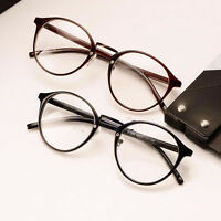 Vintage Clear Lens Eyeglasses Frame Retro Round Men Women Unisex Nerd Glasses