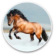 2 x Vinyl Stickers 30cm - Bay Lusitano Breed Horse Snow  #44233