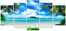 Pyradecor 5 Piece Giclee Canvas Prints Wall Art for Living Room Kitchen Home to