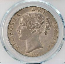 PCGS-AU53 1845 GREAT BRITAIN CROWN TONED AUNC+ NICE CONDITION
