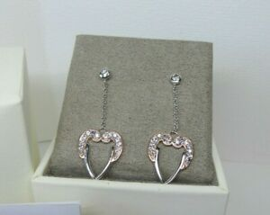 Clogau Gold Silver & Rose Gold Seraphina Angel Wings Earrings RRP £219
