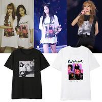 Kpop BLACKPINK Concert Same T-shirt Unisex Tshirt LISA ROSE JENNIE JISOO New