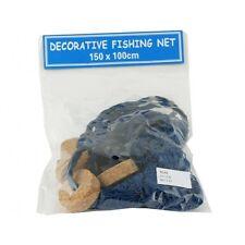 Bleu décoratif filet de pêche avec bouchons Nautique Bord de mer salle de bain plage