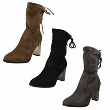 High (3 in. and Up) Slip On Ankle Boots for Women