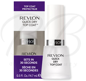 REVLON Glossy UV Filter Quick Dry Nail Top Coat 14.7ml - Only 30 Seconds *NEW*