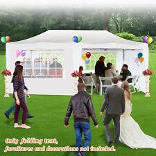 Ez Pop Up Wedding Party Tent 10'X20' Folding Gazebo Beach Canopy W/Carry Bag