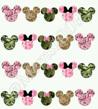 Mickey Mouse Camo Nail Art (water decals) Minnie Mouse Camo Nail decals.