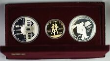 1983-1984 Olympics 3 Coin Commem Proof Set w/ $10 Gold & 2 Silver Dollars JAH