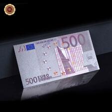 WR 500 Euro 999 Silber Banknote In Farbe Sammlergeld