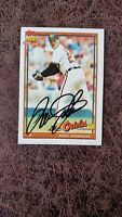 1991 Topps Dave Johnson #163 - Baltimore Orioles - Autographed!