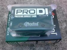Brand New Radial Engineering ProDI Pro DI Passive Direct DI Box