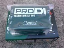 Brand New Radial Engineering ProDI Pro DI Passive Direct DI Box