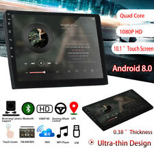 """10"""" Android8 2DIN Car Stereo Quad Core Touch Radio WIFI GPS Nav Video MP5 Player"""