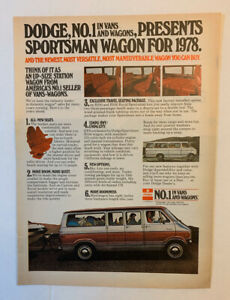 1978 Dodge Sportsman Wagon Print Ad Original Vintage No. 1 In Vans And Wagons