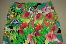 Polo Ralph Lauren Board Shorts Size 36 Multi-Color Floral Swimsuit Beach Surf