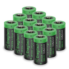 CR123A 3V Lithium Battery - 12 Pack 1600mah CR123 Battery Non-Rechargeable for
