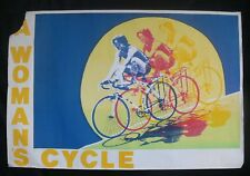 """Lenthall Road Workshop Feminist Collective Poster """"A Woman's Cycle"""" Early 1980's"""