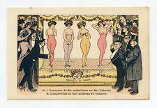 illustrateur Xavier SAGER . Concours de nu esthétique au Bal TABARIN . Cabaret