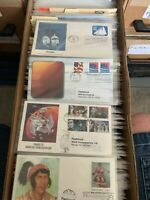 Fleetwood First day Covers Wholesale Lot of 50 Unaddressed Sleeved Identified