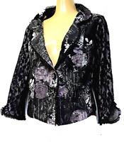 MOTTO Cropped Jacket plus sz XXS / 10- 12 jacquard feminine funky boho chic NWOT