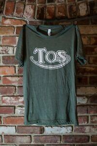 """Triumph Mens Green Triumph of Seattle """"TOS Script"""" Shop T-Shirt"""