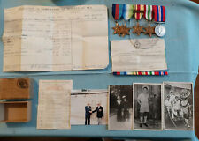 WWII Medal Group ROYAL NAVY Atlantic, Italy, Africa Star clasp,  Record, Photos