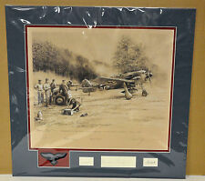 """BREAKING COVER""  by Robert Taylor #3/30 matted Eagle Edition with 6 signatures"