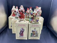 LOT OF 9 THE INTERNATIONAL SANTA CLAUS COLLECTION ALL WITH BOXES
