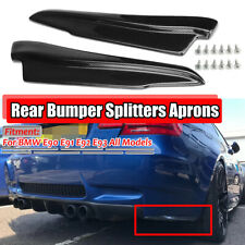 Carbon Fiber Look Rear Spat Apron Valance Lip Splitter For BMW E90 E91 E92 E93